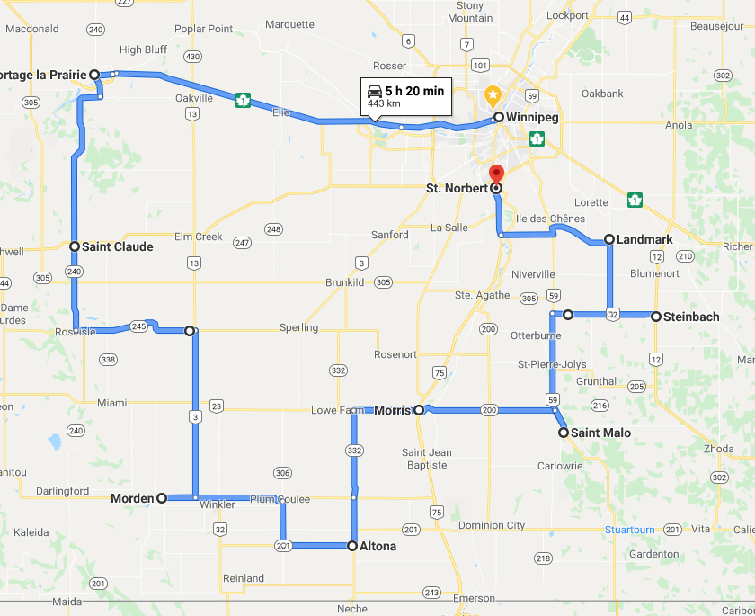A South Western Manitoba Motorcycle Ride