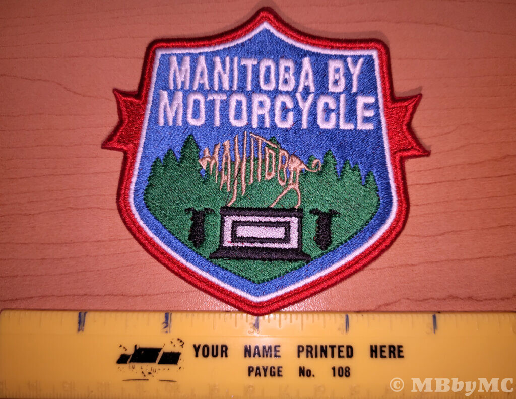 Manitoba by Motorcycle Monuments Patch Size