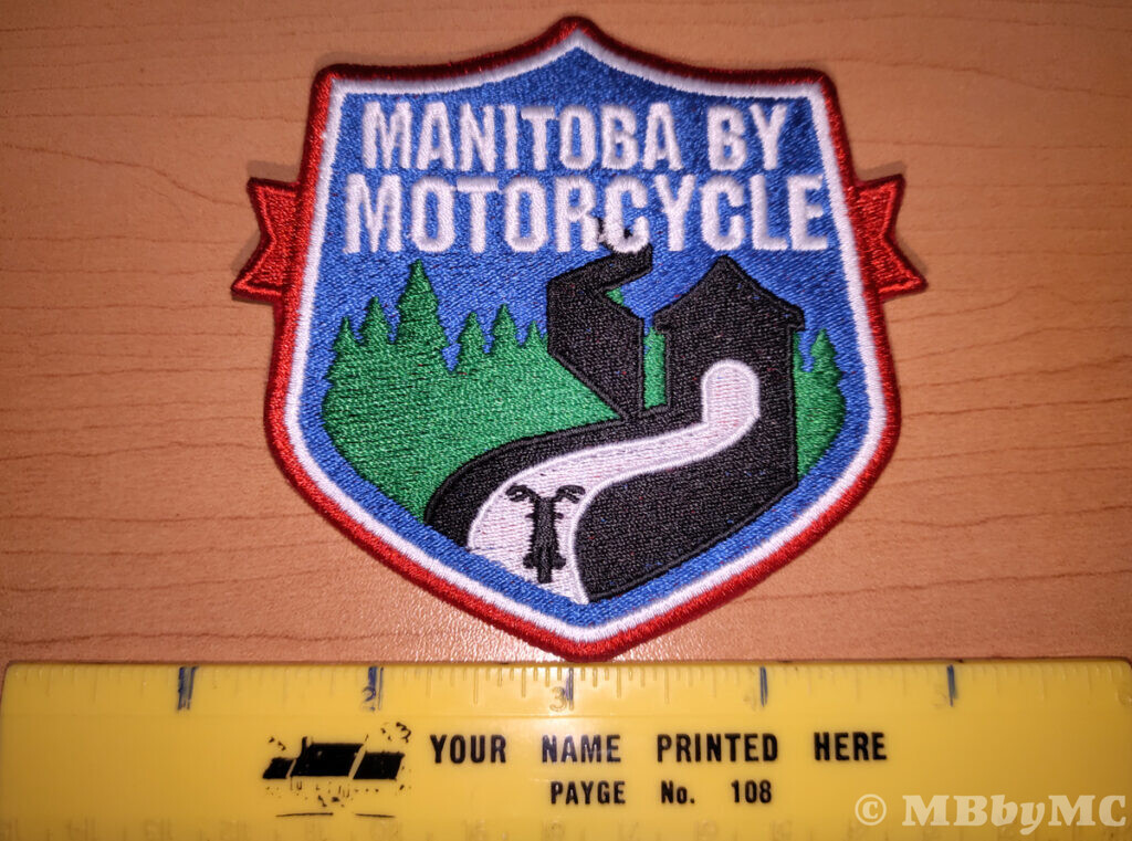 Manitoba by Motorcycle Town Staue Patch Size
